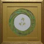 encadrement biseau tourbillon - aquarelle Laly