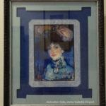 """Pablo Picasso - Femme au chapeau à plume """"période bleue"""""""